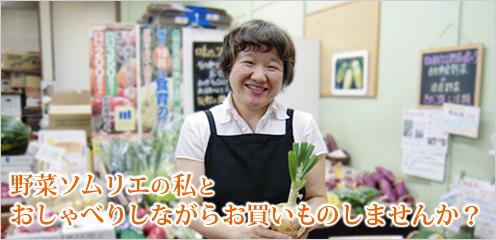 野菜ソムリエの私とおしゃべりしながらお買いものしませんか?